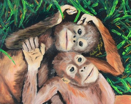 scimmie-amore